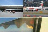 Máy bay Malaysia cháy động cơ trên không