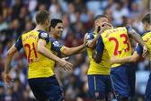 Ghi ba bàn bốn phút, Arsenal nhấn chìm Aston Villa