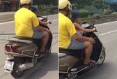 Phạt ông bố cho con trai 6 tuổi điều khiển xe máy gần 2 triệu đồng