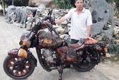 Chiếc mô tô bằng gỗ độc nhất vô nhị ở Lâm Đồng