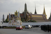 Linh cữu Quốc vương Thái Lan về đến
