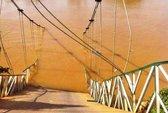 Sập cầu treo ở Đồng Nai, 4 người rơi xuống sông