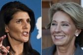 Hai phụ nữ chỉ trích Trump có chân trong nội các mới