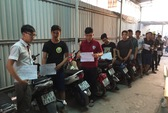 Ngăn chặn 32 thanh niên đua xe trái phép giữa đêm khuya