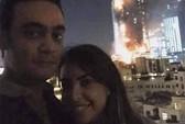 Sốc với ảnh tự sướng bên khách sạn cháy rụi ở Dubai