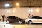 Taxi gây tai nạn liên hoàn trong hầm sông Sài Gòn