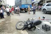 Xe tải cán qua người khiến nạn nhân tử vong tại chỗ