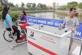 Độc đáo xe đạp hút, lọc nước Nhiêu Lộc - Thị Nghè