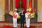 Thăng quân hàm thượng tướng cho 2 thứ trưởng Bộ Công an