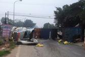 Xe container tông xe tải, tài xế tử vong kẹt trong cabin