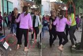 2 nhóm thiếu nữ dùng hung khí lao vào