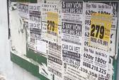 Bảng thông tin khu phố thành nơi quảng cáo