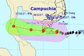 Tâm bão số 16 (bão Tembin) vào vùng biển Trà Vinh-Cà Mau