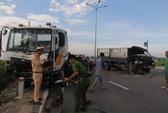 Xe tải và hai xe đầu kéo tông nhau liên hoàn trên Quốc lộ 1