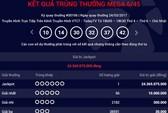 Người thứ 20 trúng vé số Vietlott hơn 24,3 tỉ đồng