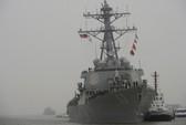 Tàu khu trục tên lửa Mỹ tiến hành chiến dịch ở biển Đông