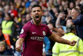 Aguero thăng hoa, Man City vững ngôi đầu