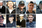 Tìm thấy thi thể 10 thủy thủ trong vụ va chạm tàu chiến Mỹ