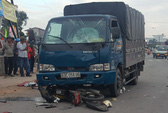 Xe tải tông xe máy, một bảo vệ chết tại chỗ