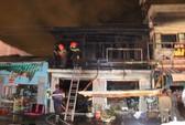 Cháy rụi 2 căn nhà gần ga tàu trong đêm ở Đà Lạt