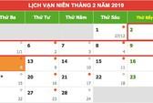 Tết Nguyên đán Kỷ Hợi 2019: Cán bộ, công chức được nghỉ 9 ngày liền