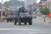 Dàn xe bọc thép tại ga Đồng Đăng trước giờ Chủ tịch Kim Jong-un rời Việt Nam