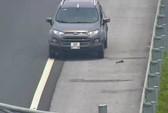 Bị phát hiện đi ngược chiều trên cao tốc Hà Nội-Hải Phòng, tài xế lùi xe bỏ chạy