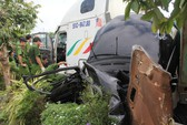 Vụ container lùa ôtô: Có đến 4 người trong 1 gia đình tử nạn