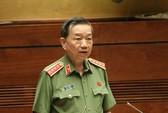 Bộ trưởng Bộ Công an Tô Lâm đang trả lời chất vấn trước Quốc hội