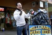 Bán vé độc đắc, ông chủ gốc Việt được 1 triệu USD