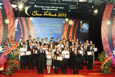 Trao danh hiệu Sao Khuê 2012 cho 65 sản phẩm, dịch vụ tiêu biểu