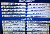 Milan đối đầu PSV, Arsenal chạm trán Fenerbahce