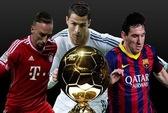 Ronaldo, Messi và Ribery dẫn đầu Quả bóng vàng FIFA 2013