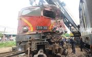 Hai tàu  tông nhau tại ga Núi Thành, thiệt hại hơn 3 tỉ đồng
