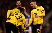 Huynh đệ nhà Hazard trổ tài kiến tạo, Bỉ đè bẹp Scotland