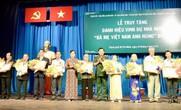 Tự hào được truy tặng danh hiệu Bà Mẹ Việt Nam Anh hùng