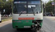 Xe máy đấu đầu xe buýt, hai người tử nạn