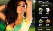 World Cup 2014 dần nóng với bộ ảnh lịch người đẹp