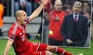 HLV Wenger lại tố Robben ăn vạ
