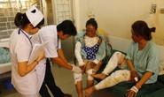 Nổ bình gas, hai chị em bị phỏng nặng