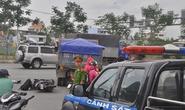 Xe ben tông xe máy trước metro An Phú, 1 người nguy kịch