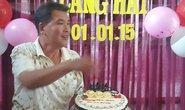 Nghệ sĩ Hữu Nghĩa hạnh phúc trong sinh nhật đầu năm