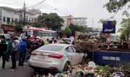 Xế hộp tông xe chở rác, 2 nữ công nhân chết thảm
