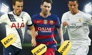 Tốp 10 cầu thủ giá trị nhất: Neymar bỏ xa Ronaldo