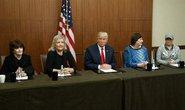 Tỉ phú Trump gặp mặt nạn nhân của ông Clinton