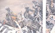 Cháy bãi xe ở đồn công an, hàng chục xe máy bị thiêu rụi