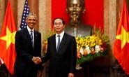 Cận cảnh Chủ tịch nước đón Tổng thống Obama