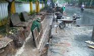 Mưa to vẫn đổ bê tông làm ống cống tiền tỉ