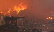 Thuê 20 xe trộn bê tông tham gia chữa cháy kho gỗ