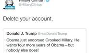 Bà Clinton và ông Trump phím chiến dữ dội trên Twitter